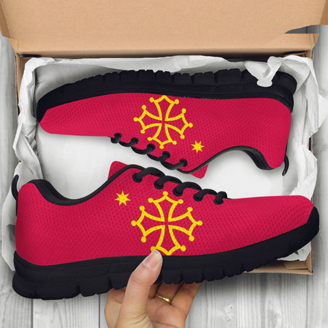 occitania sneakers, occitania flag, 1sttheworld, footwear, shoes, online shopping