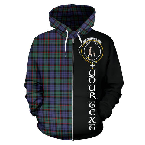 (Custom your text) Fletcher Modern Tartan Hoodie Half Of Me | 1sttheworld.com