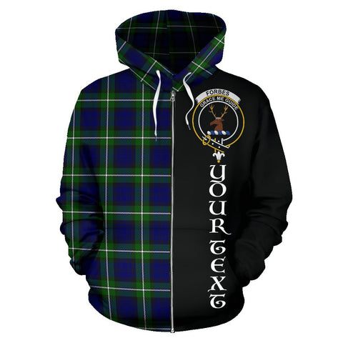 Image of (Custom your text) Forbes Modern Tartan Hoodie Half Of Me | 1sttheworld.com