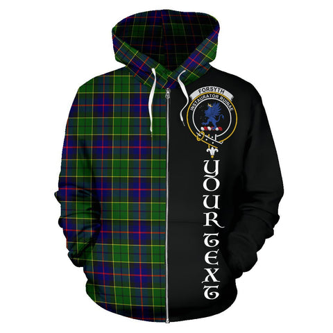 (Custom your text) Forsyth Modern Tartan Hoodie Half Of Me | 1sttheworld.com