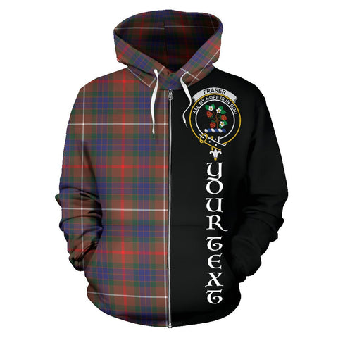 Image of (Custom your text) Fraser Hunting Modern Tartan Hoodie Half Of Me | 1sttheworld.com