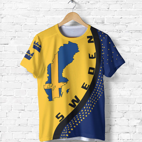 Image of Sweden Map T-Shirt Generation Ii
