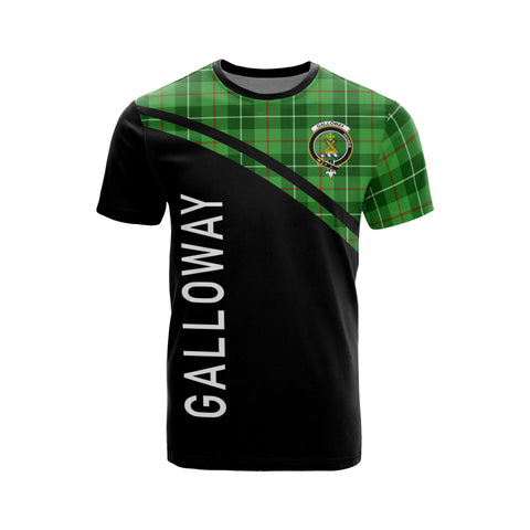 Tartan Shirt - Galloway Clan Tartan Plaid T-Shirt Curve Version Front