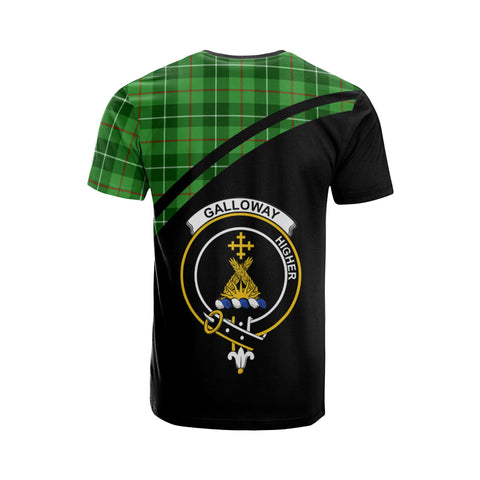 Tartan Shirt - Galloway Clan Tartan Plaid T-Shirt Curve Version Back