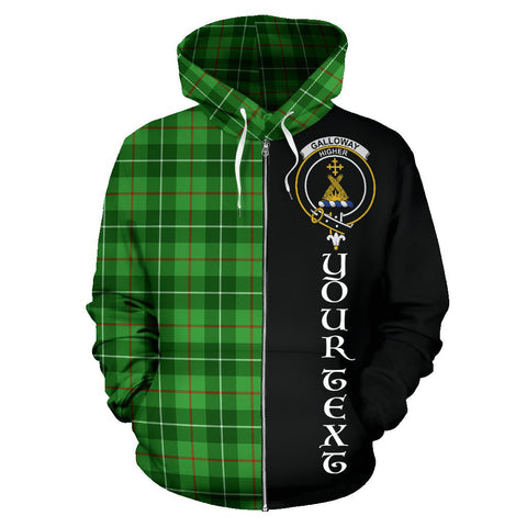 Image of (Custom your text) Galloway District Tartan Hoodie Half Of Me | 1sttheworld.com