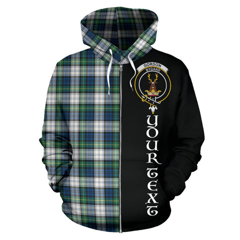 (Custom your text) Gordon Dress Ancient Tartan Hoodie Half Of Me | 1sttheworld.com