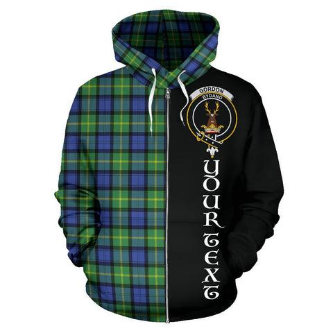(Custom your text) Gordon Old Ancient Tartan Hoodie Half Of Me | 1sttheworld.com