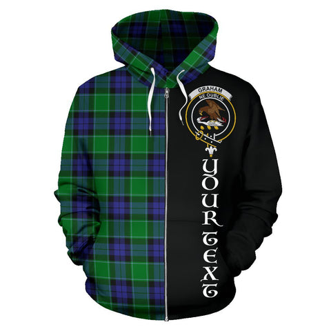 (Custom your text) Graham of Menteith Modern Tartan Hoodie Half Of Me | 1sttheworld.com