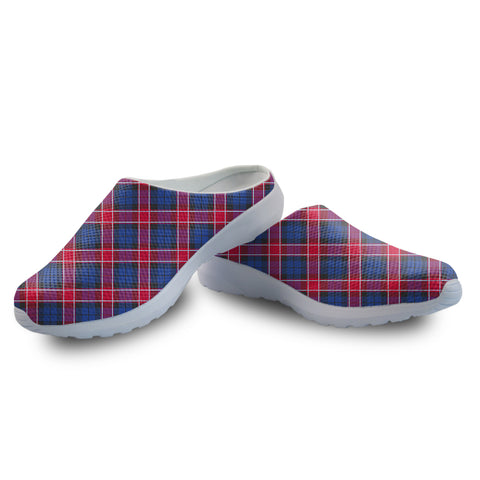 Graham of Menteith Red Tartan Back Open Shoes | 1sttheworld.com