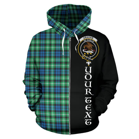 Image of (Custom your text) Graham of Montrose Ancient Tartan Hoodie Half Of Me | 1sttheworld.com