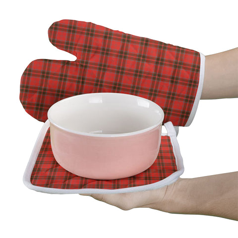 Grant Weathered Clan Tartan Scotland Oven Mitt And Pot-Holder (Set Of Two)