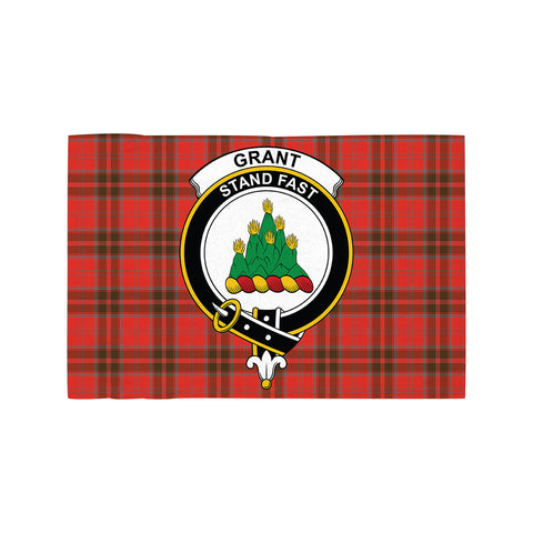 Grant Weathered Clan Crest Tartan Motorcycle Flag