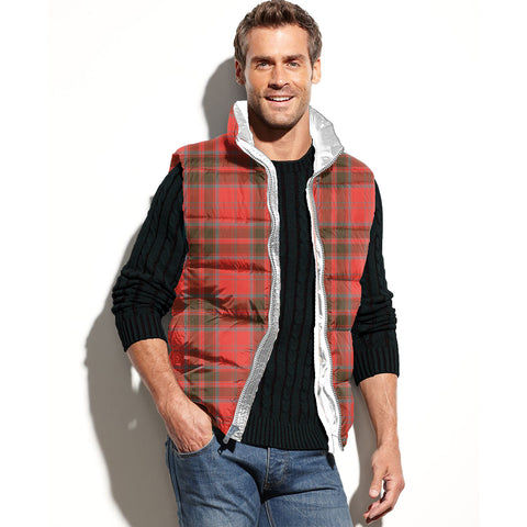 Grant Weathered Tartan Puffer Vest for Men and Women K5
