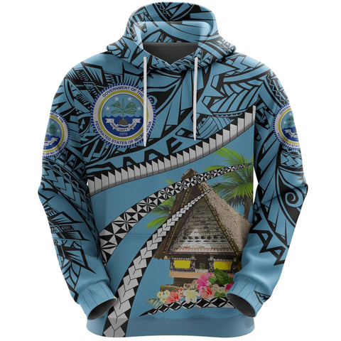 Image of Federated States of Micronesia Meeting House Hoodie - Road to Hometown K8