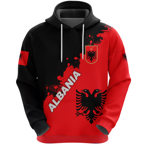 Albania Hoodie Red Braved Version K12