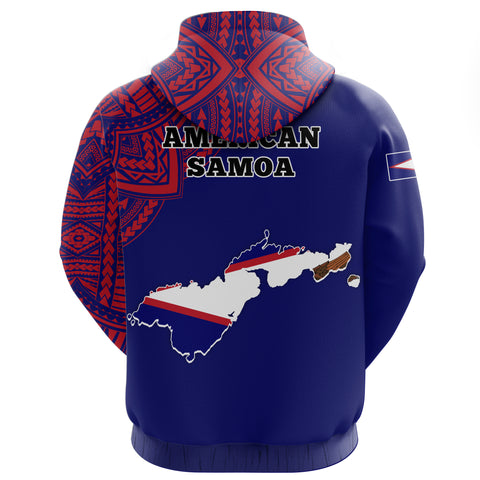 Image of American Samoa Map Special Hoodie | Men & Women | High Quality