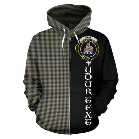 Image of (Custom your text) Haig Check Tartan Hoodie Half Of Me | 1sttheworld.com