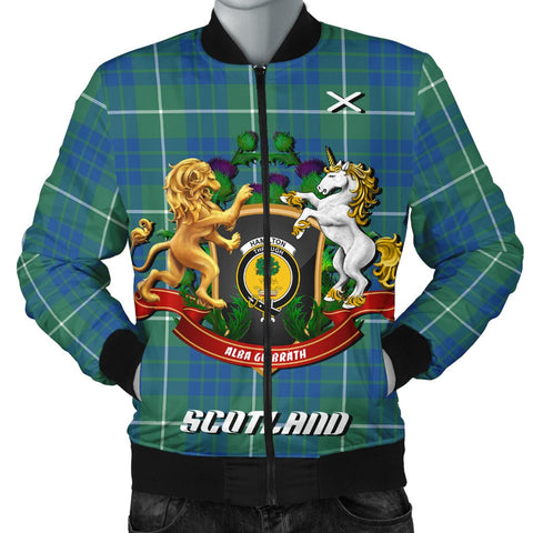 Hamilton Hunting Ancient | Tartan Bomber Jacket | Scottish Jacket | Scotland Clothing