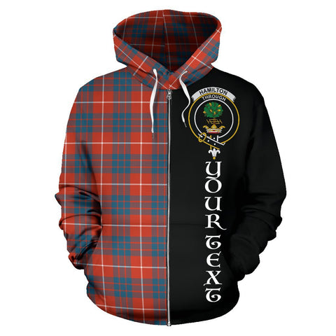 Image of (Custom your text) Hamilton Ancient Tartan Hoodie Half Of Me | 1sttheworld.com