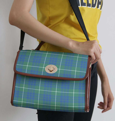 Tartan Bag - Hamilton Hunting Ancient  Canvas Handbag A9