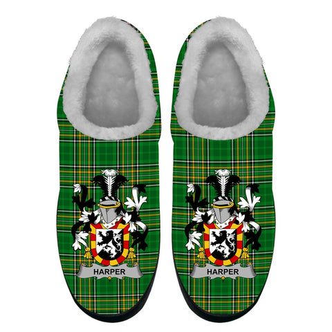 Harper Ireland Fleece Slipper - Irish National Tartan A7