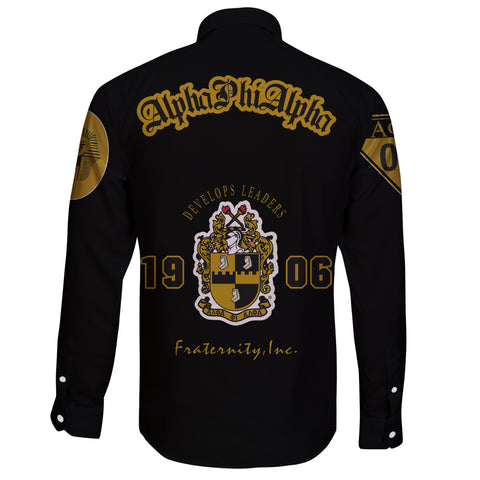 Image of Alpha Phi Alphla Establish 1906 Long Sleeve Button Shirt A27