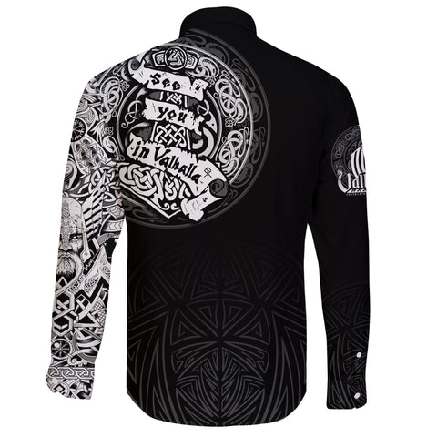 Viking Long Sleeve Button Shirt - See You In Valhalla A31