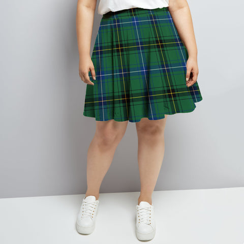 Image of Henderson Ancient Tartan High Waist Skater Skirt HJ6