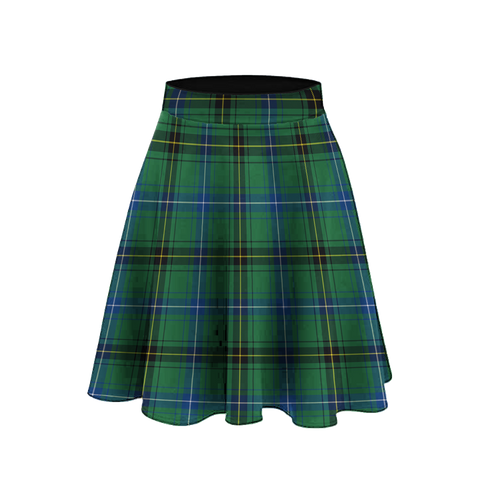 Image of Henderson Ancient Tartan High Waist Skater Skirt