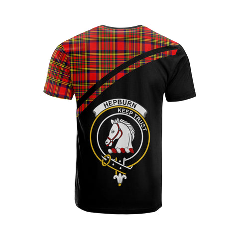 Tartan Shirt - Hepburn Clan Tartan Plaid T-Shirt Curve Version Back