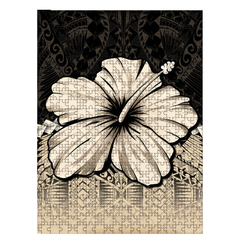Image of Kanaka Maoli (Hawaii) Puzzle - Polynesian Hibiscus Gold | Love The World