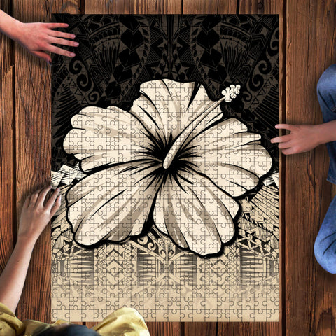 Kanaka Maoli (Hawaii) Puzzle - Polynesian Hibiscus Gold | Love The World