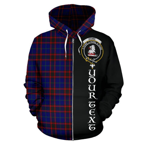 (Custom your text) Home Modern Tartan Hoodie Half Of Me | 1sttheworld.com