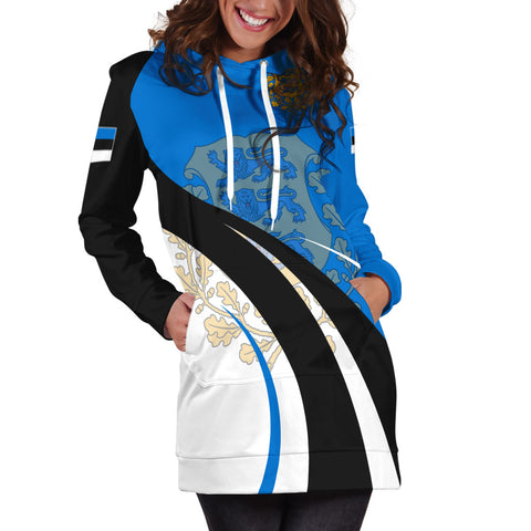 Estonia Hoodie Dress Flag CoA Basic A15
