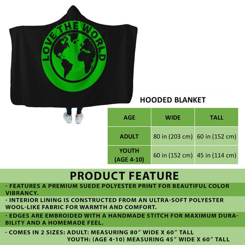 Welsh Hooded Blanket - Dragon Daffodil A024