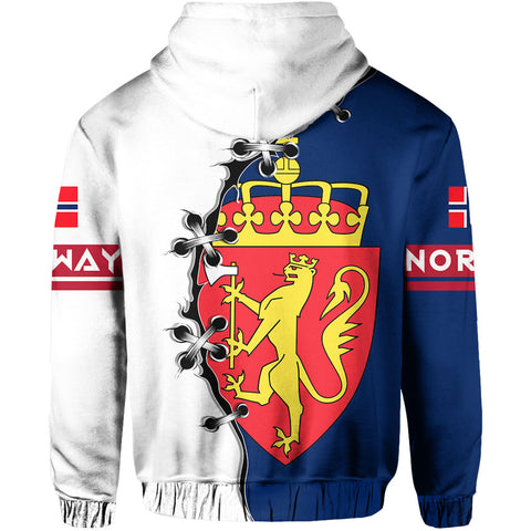 Norway Hoodie Zip - Lion Coat Of Arms