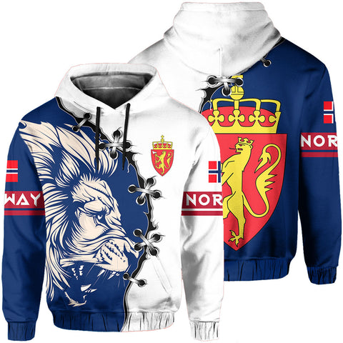 Norway Hoodie - Lion Coat Of Arms | 1sttheworld