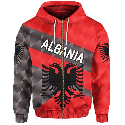 1st The World Albania Zip Hoodie Sporty Style | Clothing | Love Albania