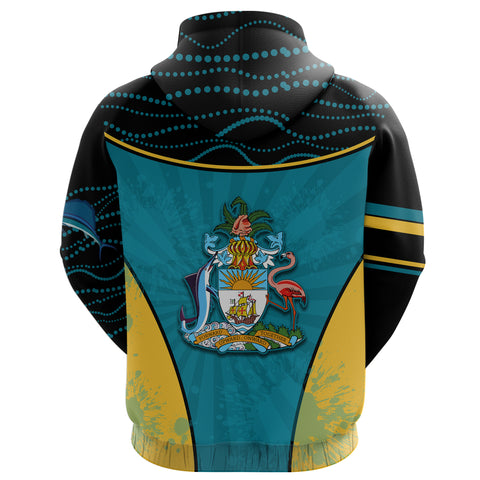 Bahamas Hoodie Circle Stripes Flag Version Pearl Back | 1sttheworld