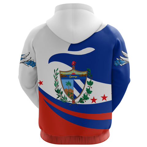 Image of Cuba Hoodie Zip Proud Version Back | 1sttheworld