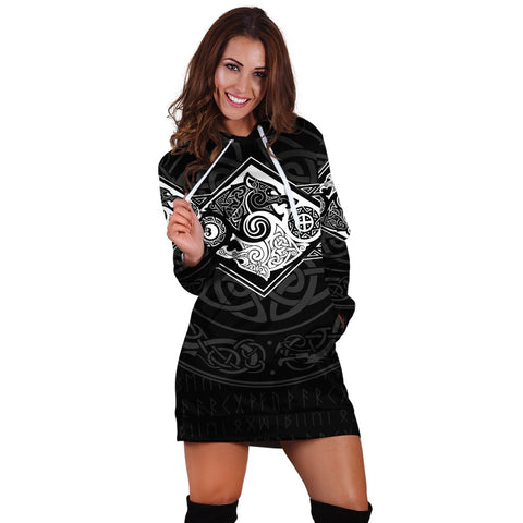 Image of Vikings Hoodie Dress The Wolves Skoll And Hati A31