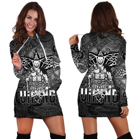 Viking Hoodie Dress Celtic Warrior A31