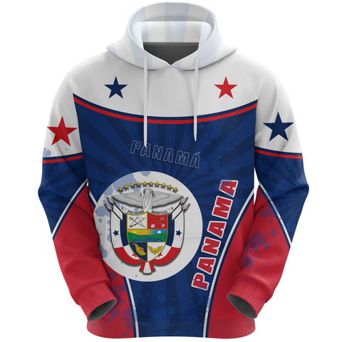 Panama Hoodie Circle Stripes Flag Version Front | 1tstheworld.com