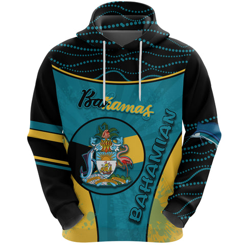 Bahamas Hoodie Circle Stripes Flag Version Pearl Front | 1sttheworld