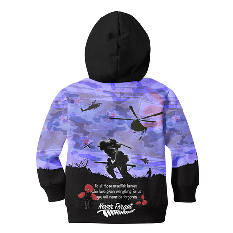 Image of Anzac Day 2021 We Will Always Remember - Hoodie Kid A30
