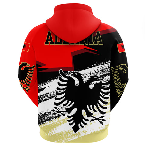 Albania Hoodie - Albania Black Double-Headed Eagle Flag New Collection A25