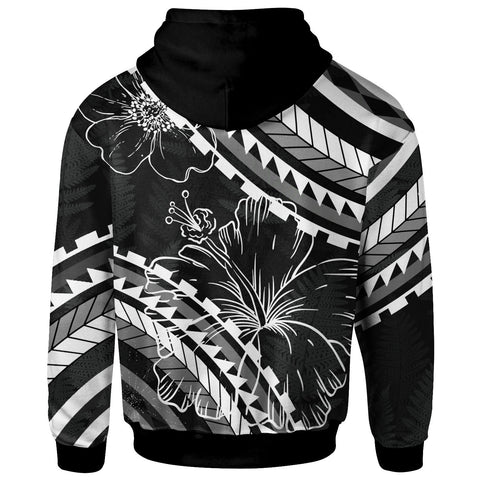 Image of CNMI Zip Hoodie - Palm Leaf Texture Black - BN20
