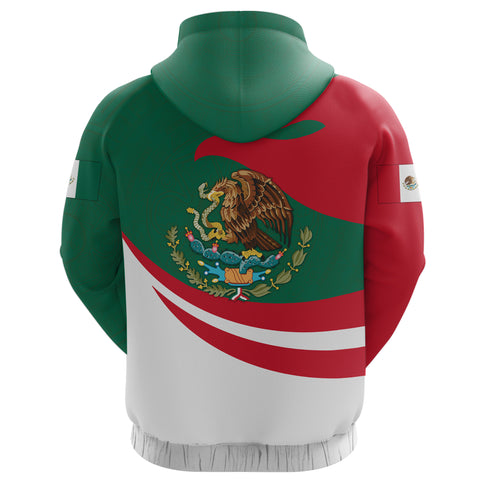 Mexico Hoodie Zip Proud Version Back | 1sttheworld