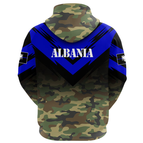 Albania Flag Hoodie- Based Version Of The Thin Blue Line Symbol A25