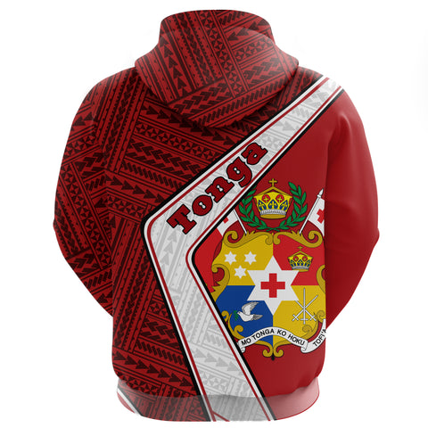 Tonga Zip Hoodie - Polynesian Coat Of Arms | Love The World